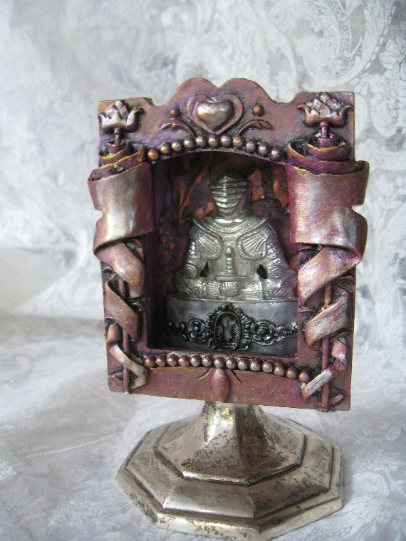 In The Middle Of The Knight altered tin assemblage by inthewillows