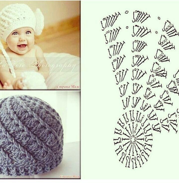 Pin de Yami Prin en gorras | Pinterest | Gorros, Gorros crochet y Tejido