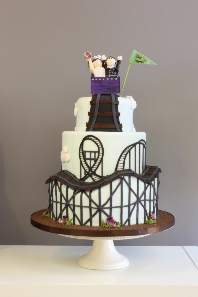 Roller Coaster Of Love Cake Roller Coaster Cake Cake Themed Wedding Cakes