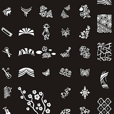 249 Designs Nail Art Stamp Image Platebig Nail Art Templatesnail