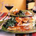 Photo of Roast Capon with Chile-Cilantro Rub and Roasted Carrots –  Roast Capon with Chil…