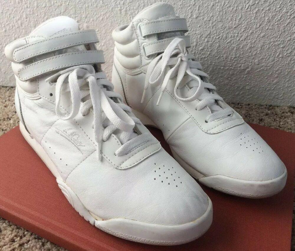 LA Gear Womens Hi Top Shoes White Size