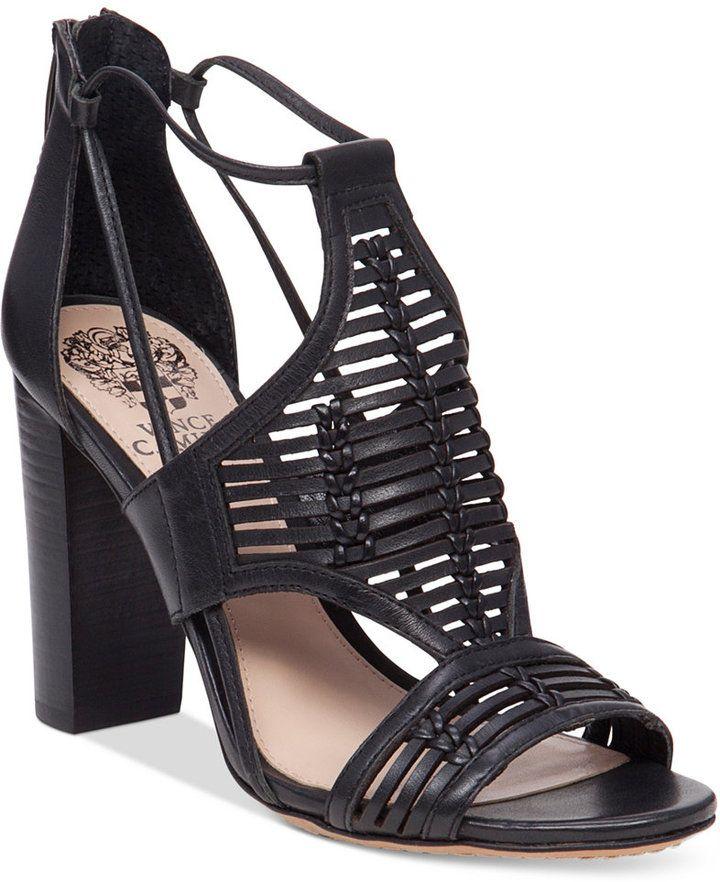 2abff6f42a8 Vince Camuto Ceara Huarache Block-Heel Dress Sandals