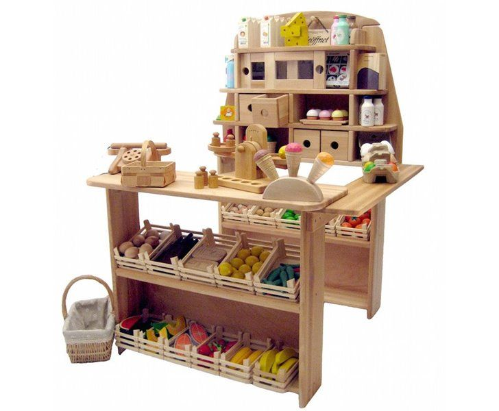 Amazing Wooden Grocery Stand Lets Kids