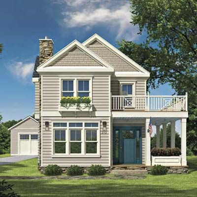 Photoshop Redo: How to Perk Up a Plain 2-Story | House, Rendered ...