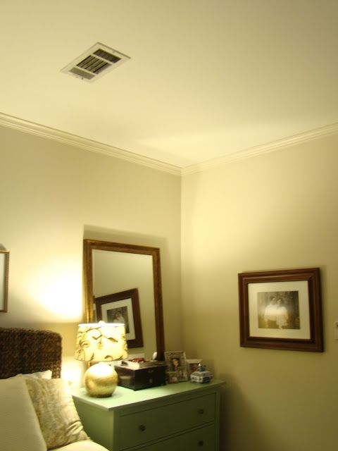 used satin paint on the walls and did the moulding in the ...