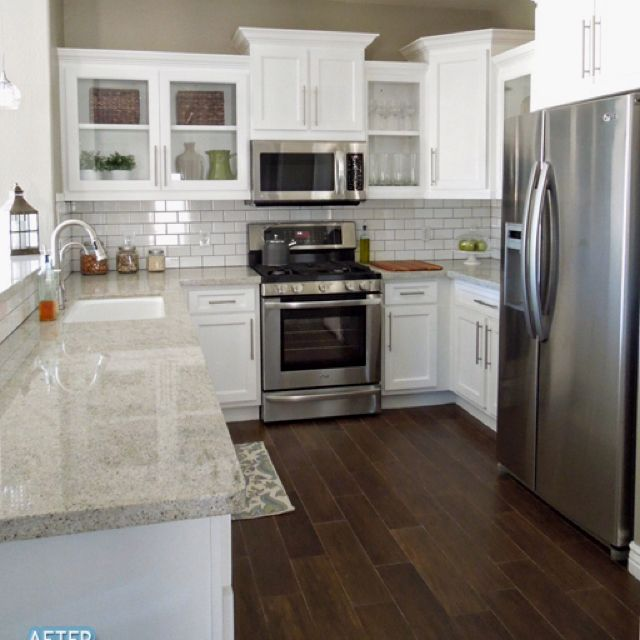 Counter, backsplash, hardware   For the Kitchen   Pinterest ...
