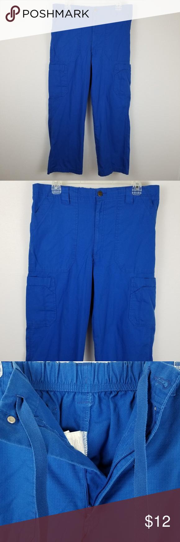 5b7c90dd5ee Mens Carhartt Scrub Pants C54108 Royal No stains, no holes. Ripstop  Multi-cargo
