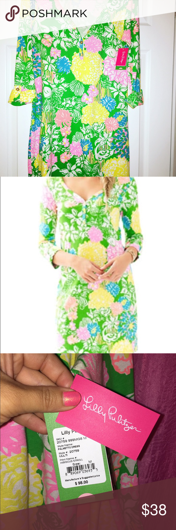 Lilly Pulitzer palmetto dress New with tags does show small signs pilling in the armpit area for some reason only noticeable upon close inspection. Lilly Pulitzer Dresses Mini