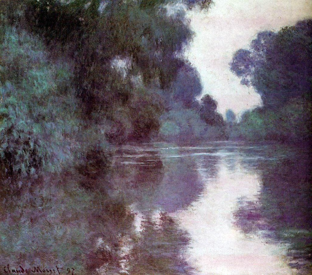 Arm of the seine near giverny by claude oscar hand