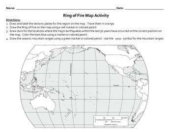 Rim Of Fire Map.Ring Of Fire Map Activity Earth Science Pinterest Activities