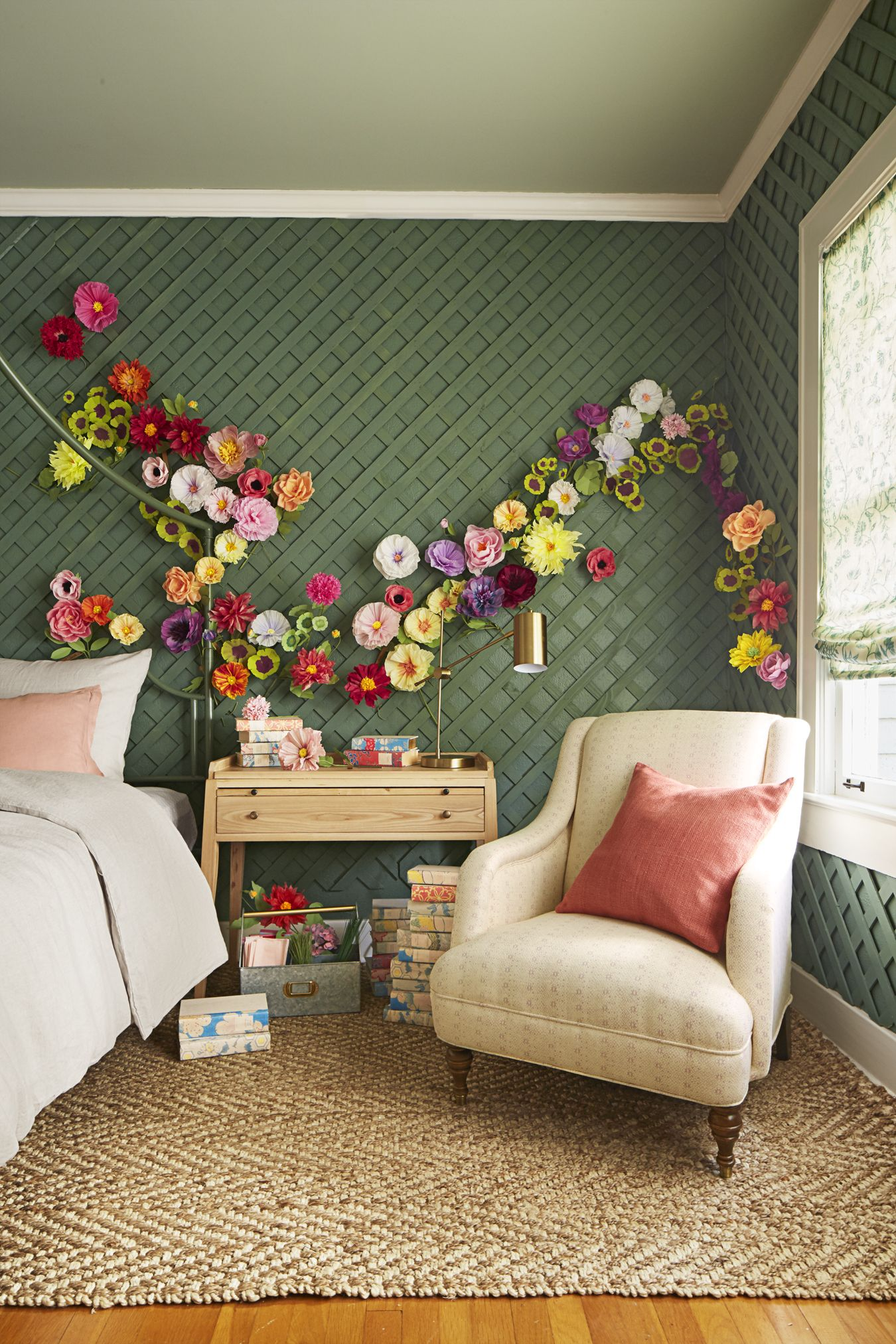 Uncategorized Whimsical Decorating Ideas 29 design ideas inspired by classic country music songs bedrooms thanks to pretty paper petals and a garden fresh palette this whimsical bedroom blooms songsroom decorating ideashome