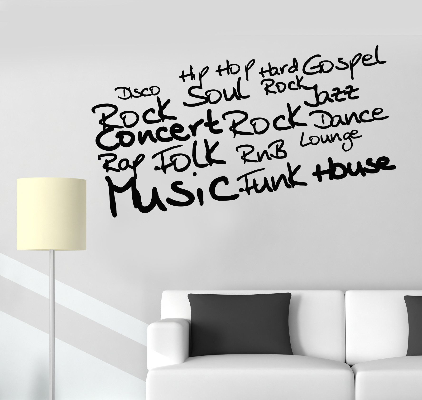 Vinyl Wall Decal Musical Word Art Music Room Decoration Stickers 565ig Music Room Decor Vinyl Wall Decals Vinyl Wall