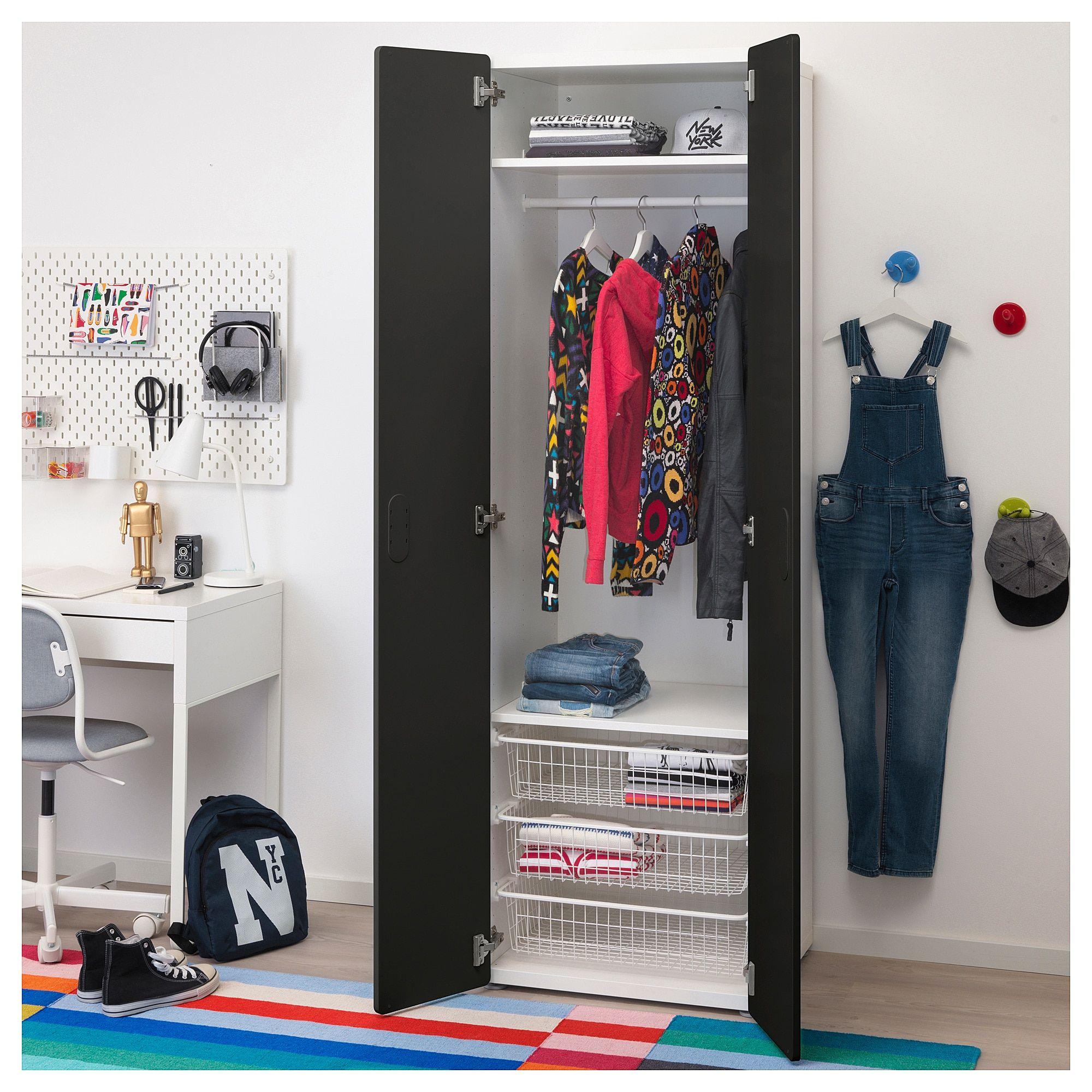 Ikea Stuva Fritids Wardrobe White Blackboard Surface For Gav