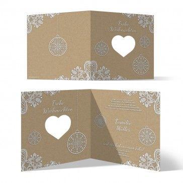 Individuelle Weihnachtskarten.Lasergeschnittene Individuelle Weihnachtskarten Rustikal