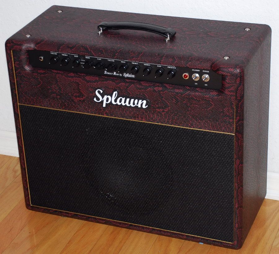 Splawn Street Rod 40w 1x12 Combo Amplifier - Burgundy Python Snakeskin Tolex - Upgraded Celestion 65w Creamback Speaker!  http://www.jelyfingerguitars.com/cart.php?target=product&product_id=772&category_id=102
