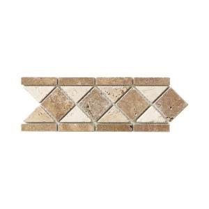Decorative Travertine Tile Borders Jeffrey Court Tumbled Noce Listello 4 Inx 12 Intravertine