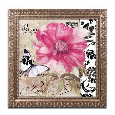 Trademark Art 'Le Pink' by Color Bakery Framed Graphic Art Size: 1