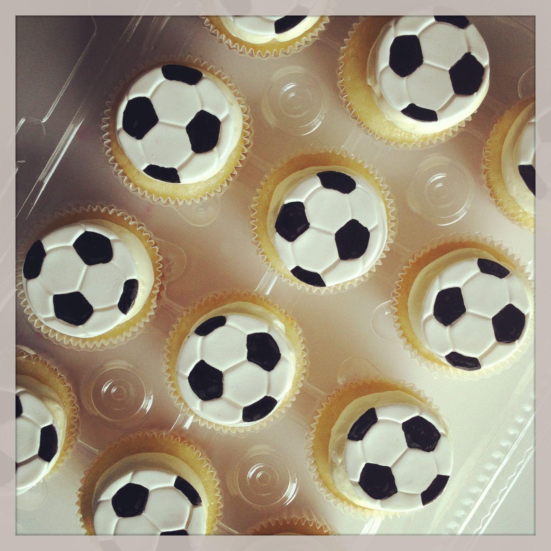 Soccer Ball Cupcakes Soccer Cupcakes Football Cupcakes Fondant Cupcakes