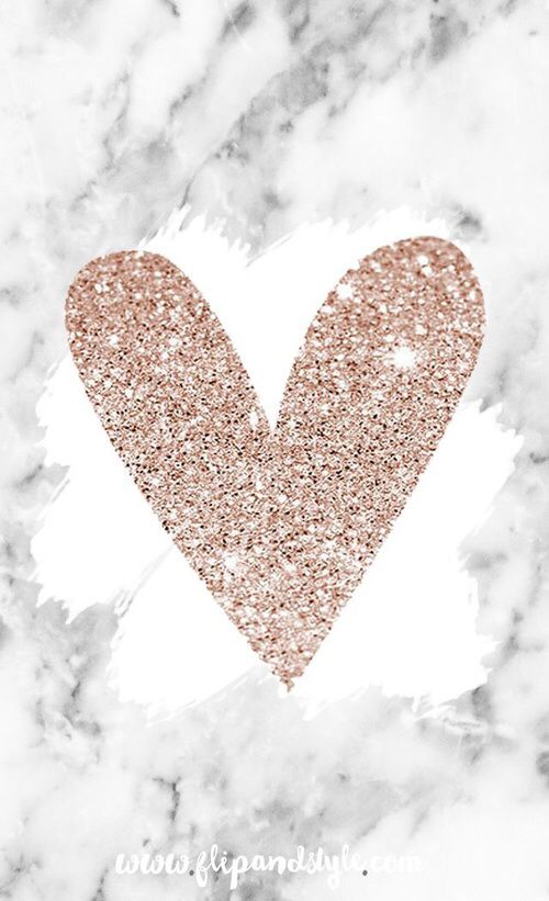 Pin by sofia on heart wallpaper in 2019 free iphone - Rose gold glitter iphone wallpaper ...