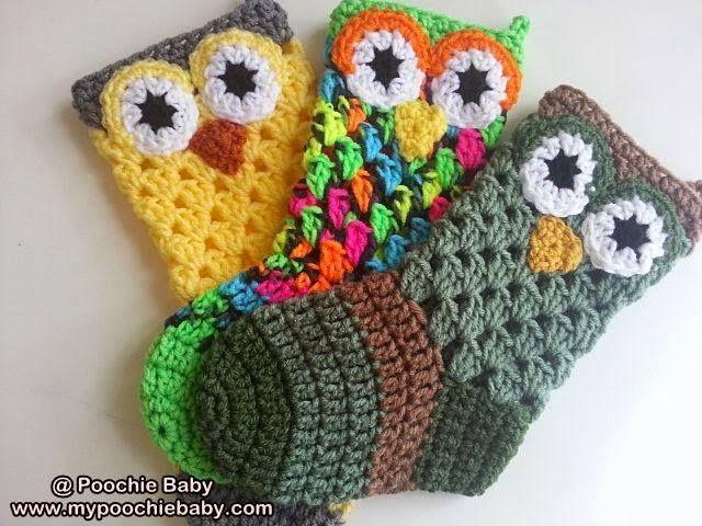 Crochet Pattern for Owl Christmas Stocking   Tejido, Mitones y Lana