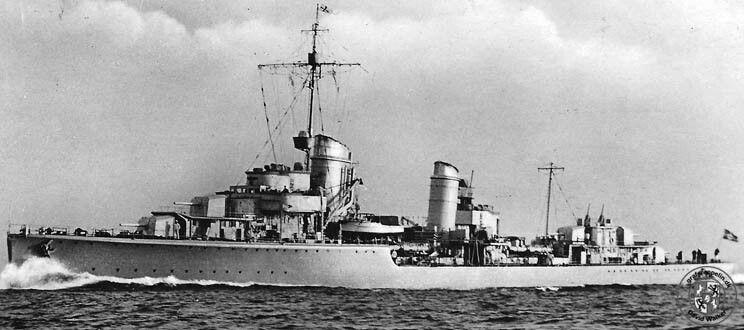 German destroyer Z1 Type 1934-class Leberecht Maass built for the ...