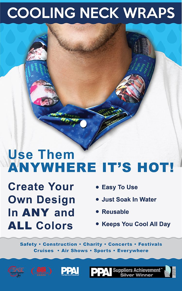 Neck Coolers From Koolgator Products With Any Design Cooling