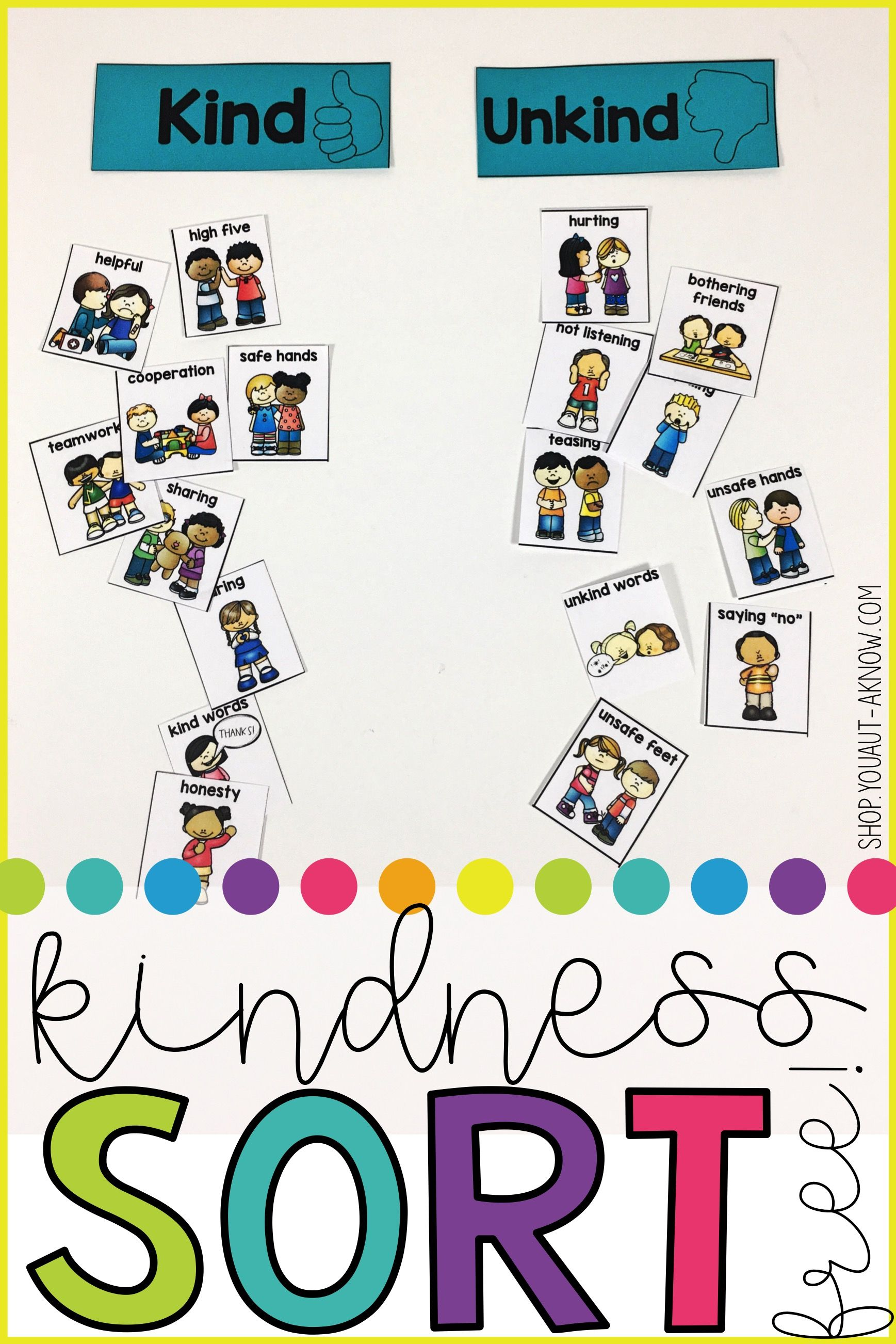 kindnessrules: kindness sort | a special ed classroom | classroom