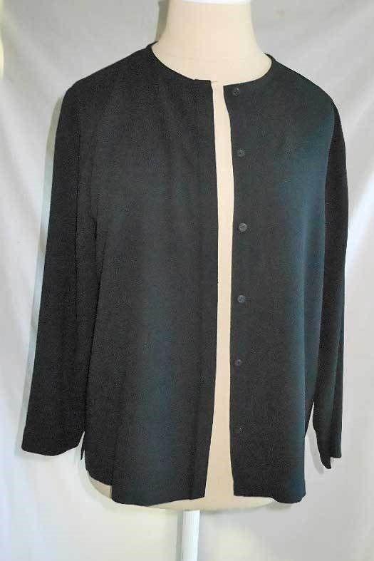 Eileen Fisher Womens Sweater Black Medium M Knit Funnel