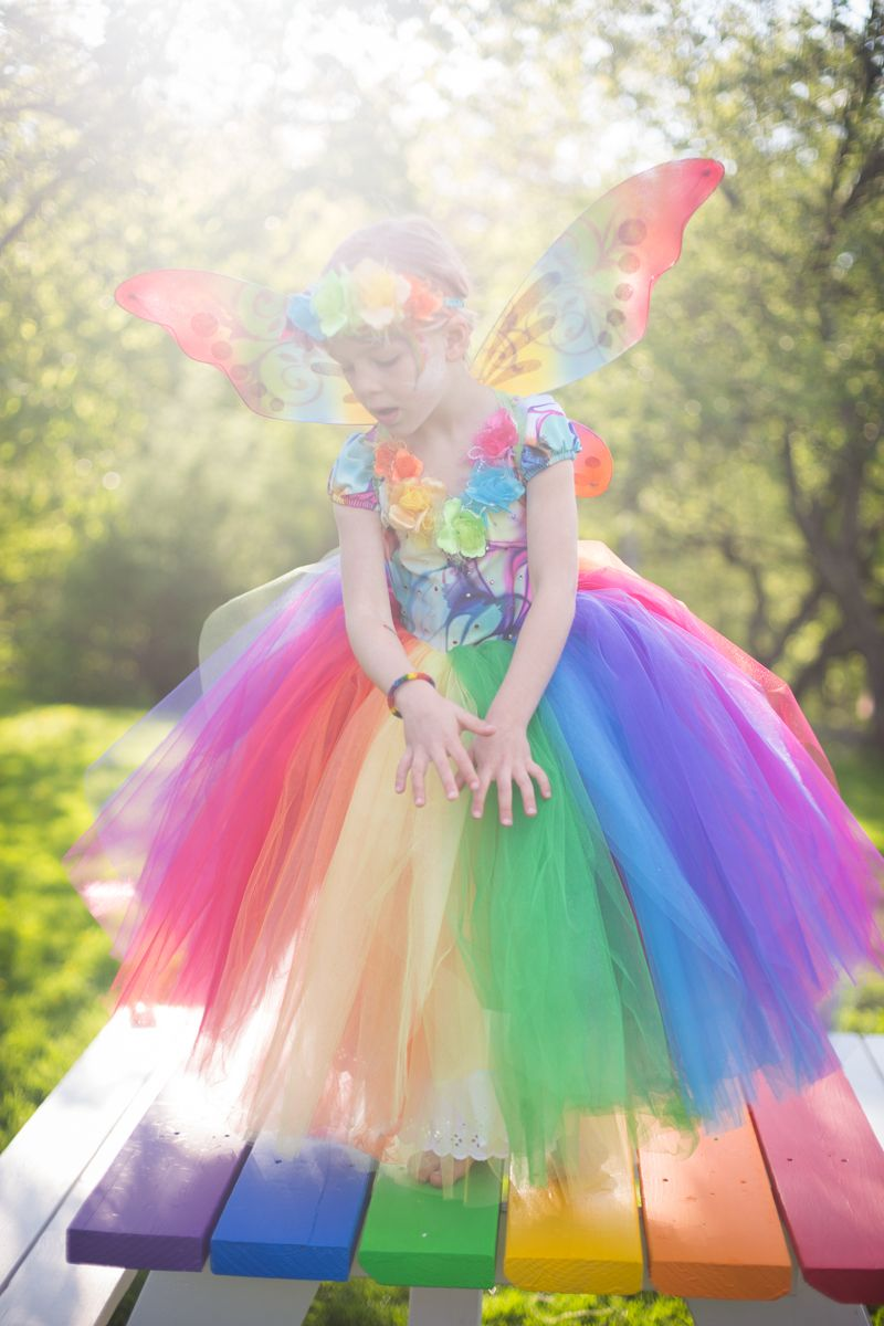 ... Halloween Costume For Your Kids - Future Life. Rainbow Butterfly Flower  Fairy   Blog a la Cart a3416b97dc37