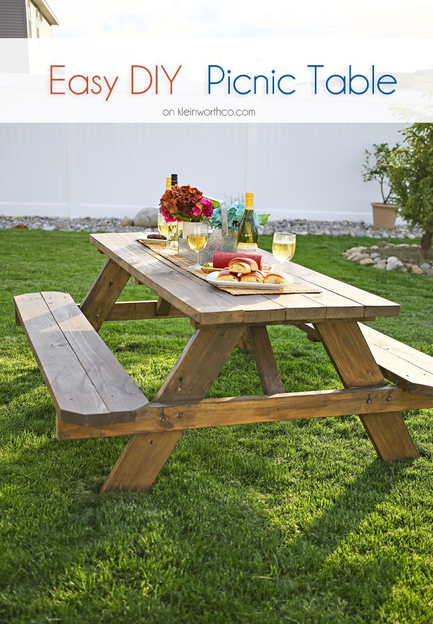 Easy DIY Picnic Table | DIY/ Crafts/ Projects | Pinterest ...