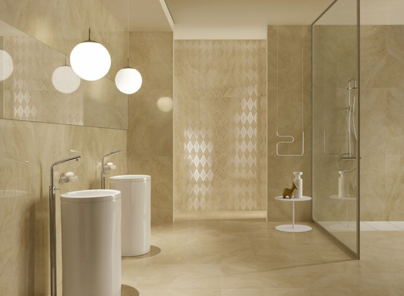 Bagno Travertino ~ Classic beige travertino interiors: bathroom pinterest