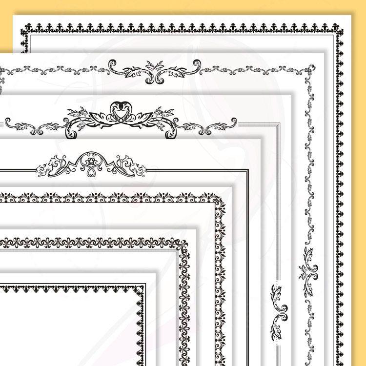 Retro Page Border Frames Black Frames Clip Art Clipart Scrapbook ...
