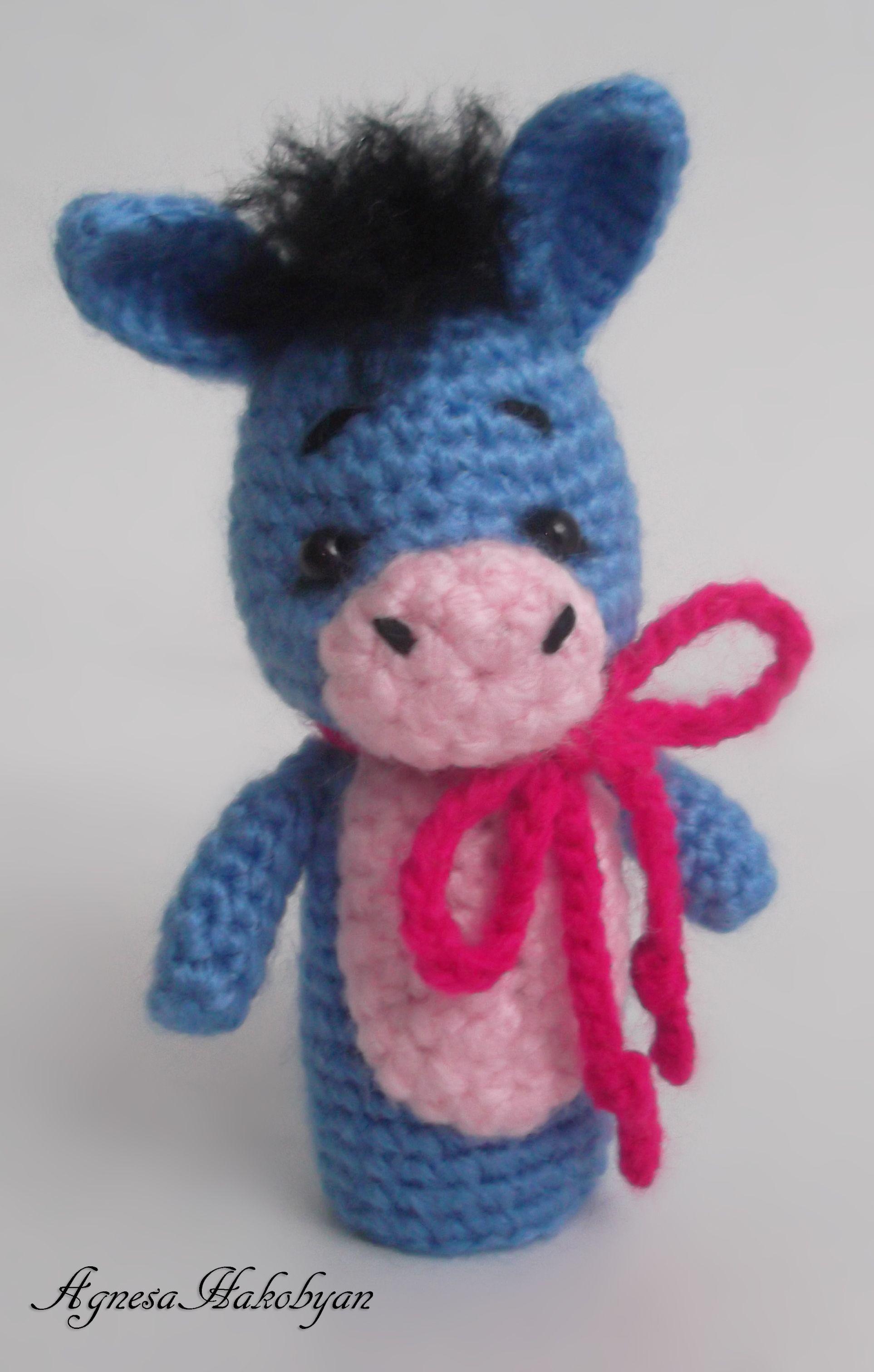 Donkey finger puppet | crafts | Pinterest | Porta lápices, Marioneta ...