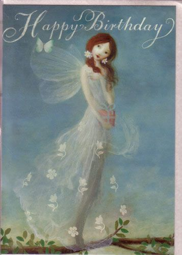 Fairy birthday cards by stephen mackey set of 2 cards gossamer white fairy birthday cards by stephen mackey set of 2 cards gossamer white gown new bookmarktalkfo Image collections