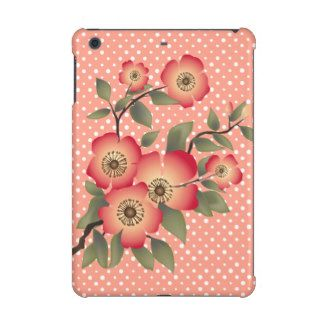 Flowers and polka dots pattern iPad mini cover