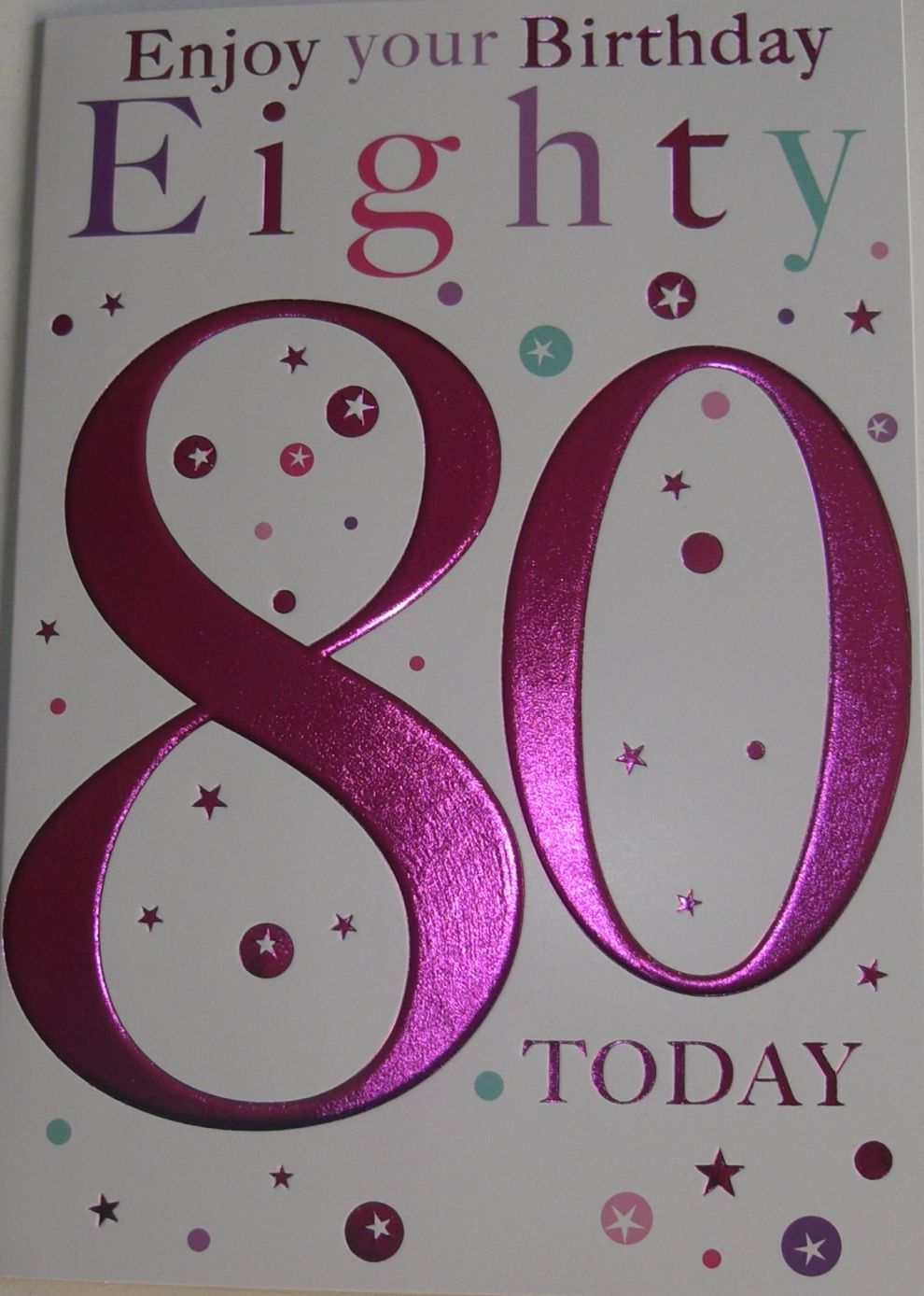 80th Birthday Card Can Be Bought At Httpebayitmfemale