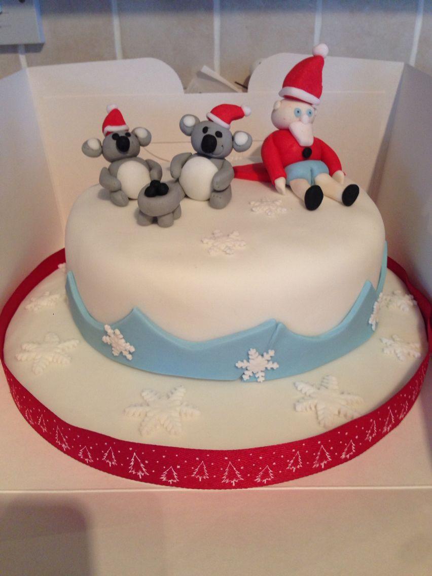 Australian Themed Christmas Cake Buttercream Daydream Cakes