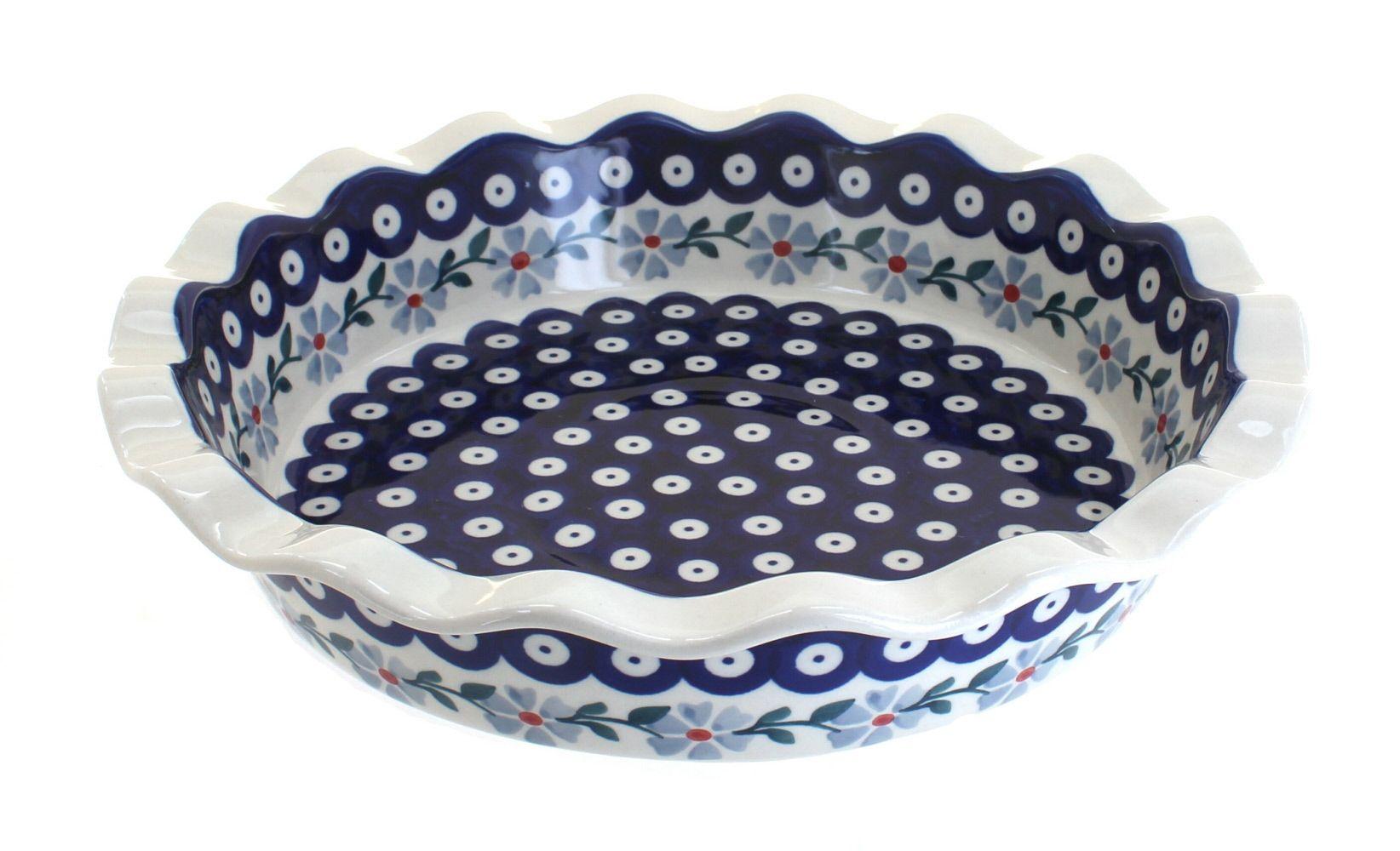 Blue Rose Polish Pottery Polish Garden Pot Holder /& Oven Mitt Set