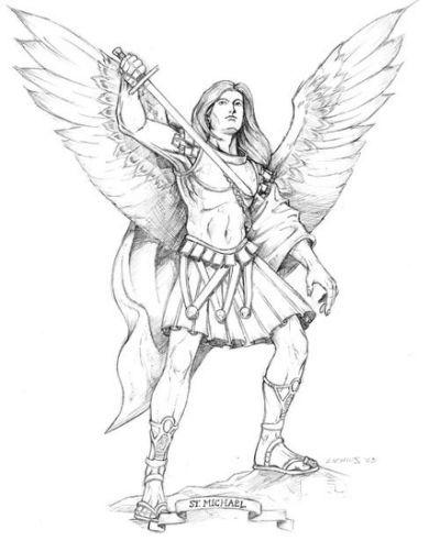 Saint Michael The Archangel Drawing | Tatuajes in 2018 | Pinterest ...