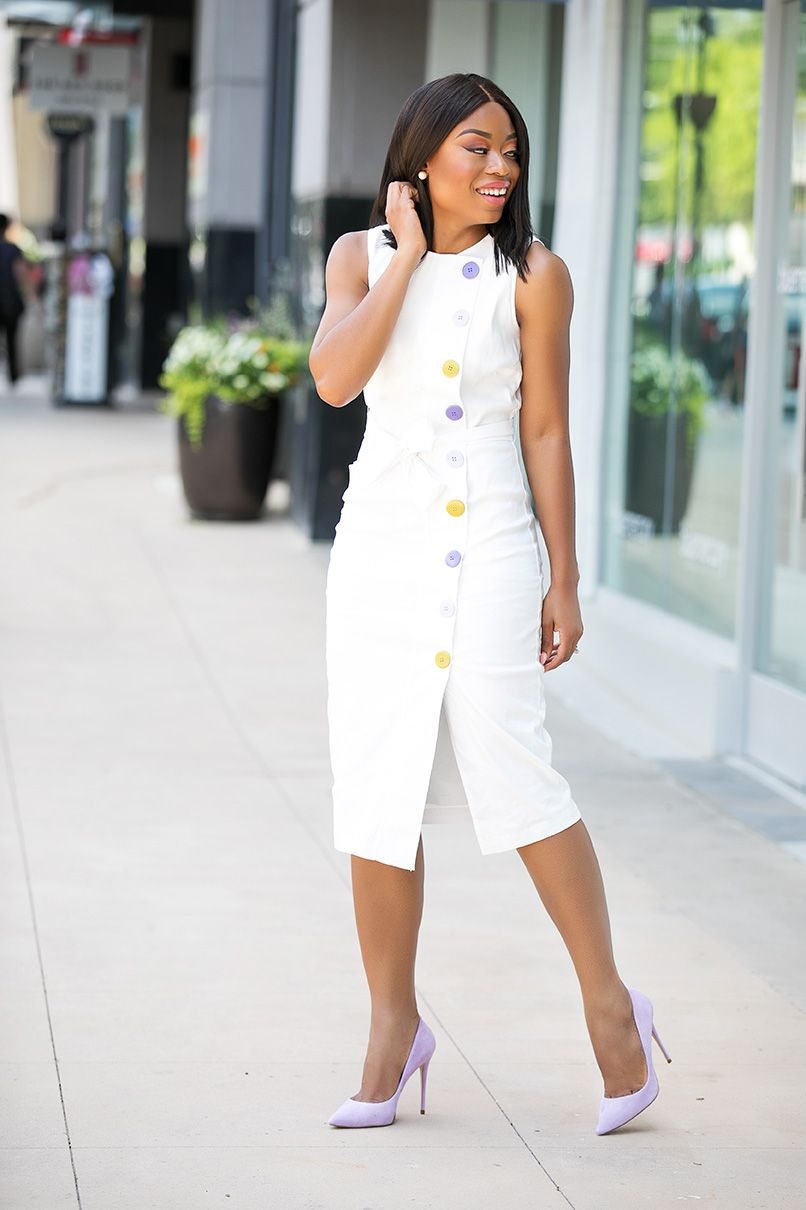 What To Wear To Work This Summer Summer Work Dresses Dresses For Work Fashion [ 1210 x 806 Pixel ]