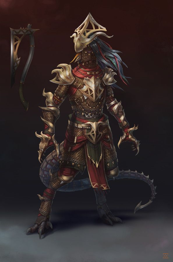 Divinity: Original Sin 2 - Lizards Armor Chainmail | characters