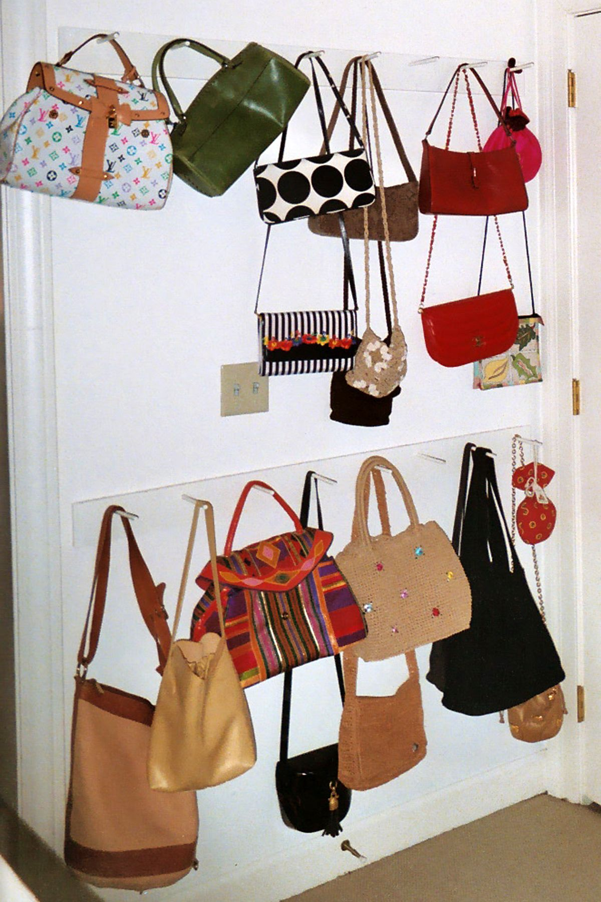 Ideas For Hanging Purses Storage For Bagspurses  Organizational  Pinterest  Purse .