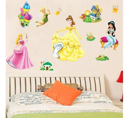 Prensesler Duvar Çıkartmaları | duvar çıkartmaları wall decor ...