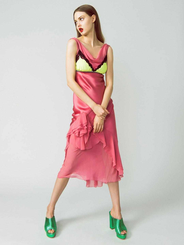 Increíble Lindsey Wixson Vestido De Fiesta Motivo - Colección de ...