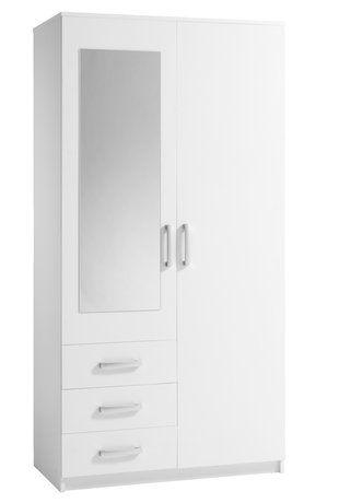 DOMBÅS Garderob, vit Clothes rail, Shelves and Spaces - armoire ikea porte coulissante