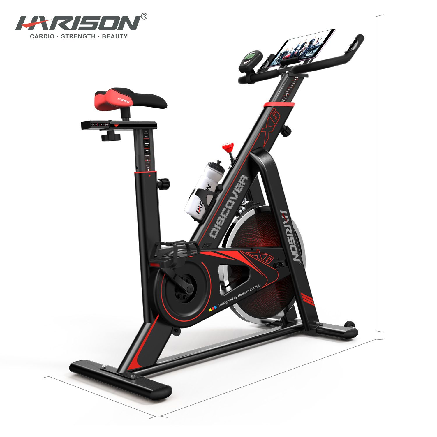 Harison X6 Exercise Bike With Images Biking Workout Bike