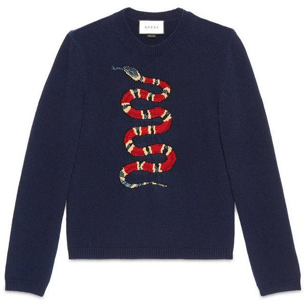 3b3a9cfd7db Gucci Snake Jacquard Wool Sweater (€655) liked on Polyvore ...