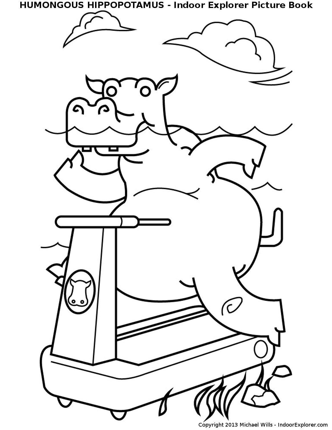 Humongous Hippopotamus In Training printable kids