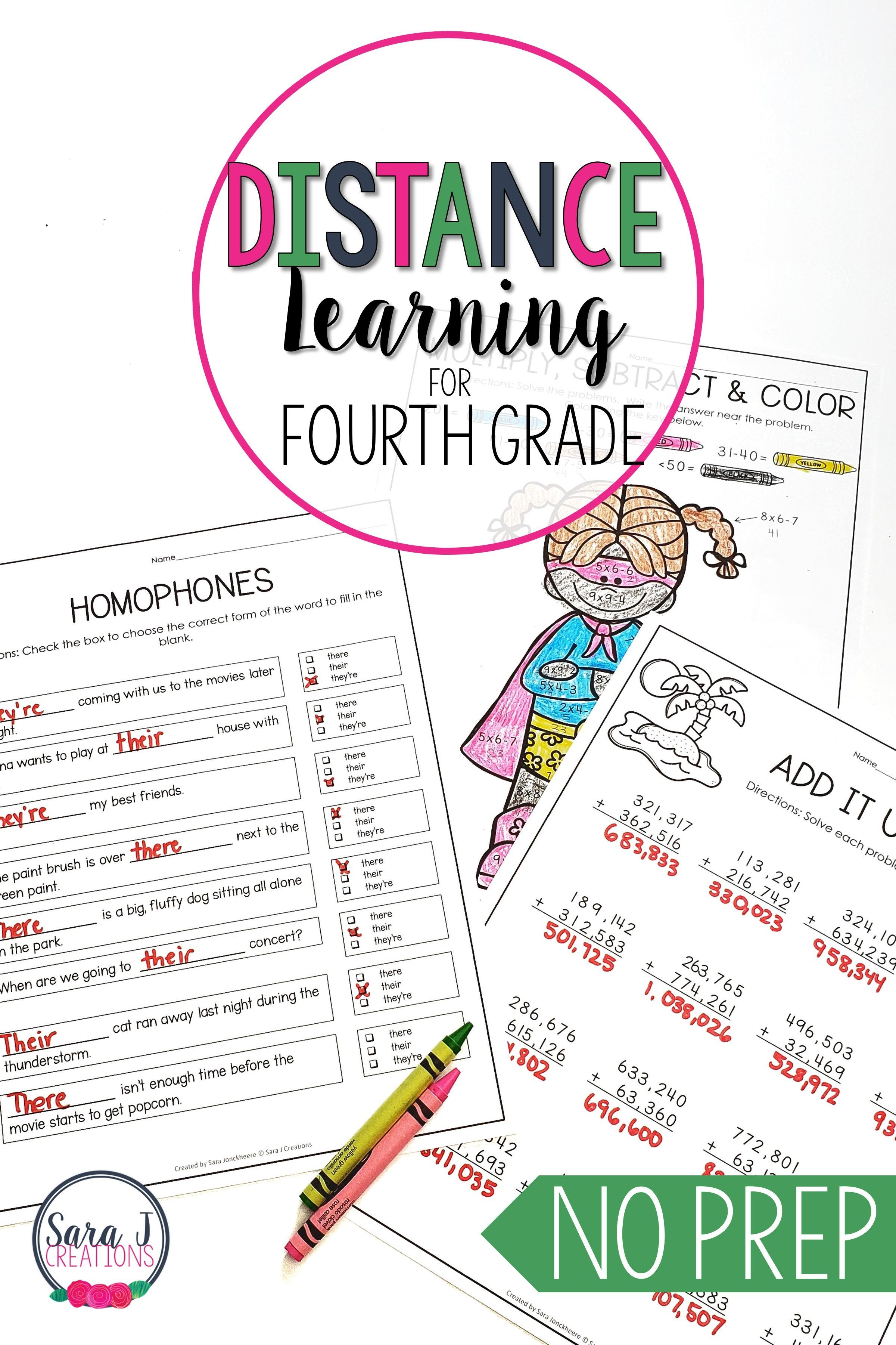 Summer Reviews Prek 4th Grade Distance Learning Freewriting Literacy Worksheets [ 3600 x 2400 Pixel ]